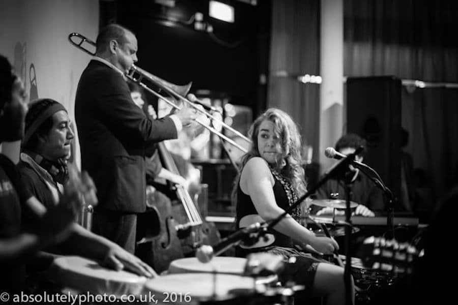 Heidi Joubert and her band