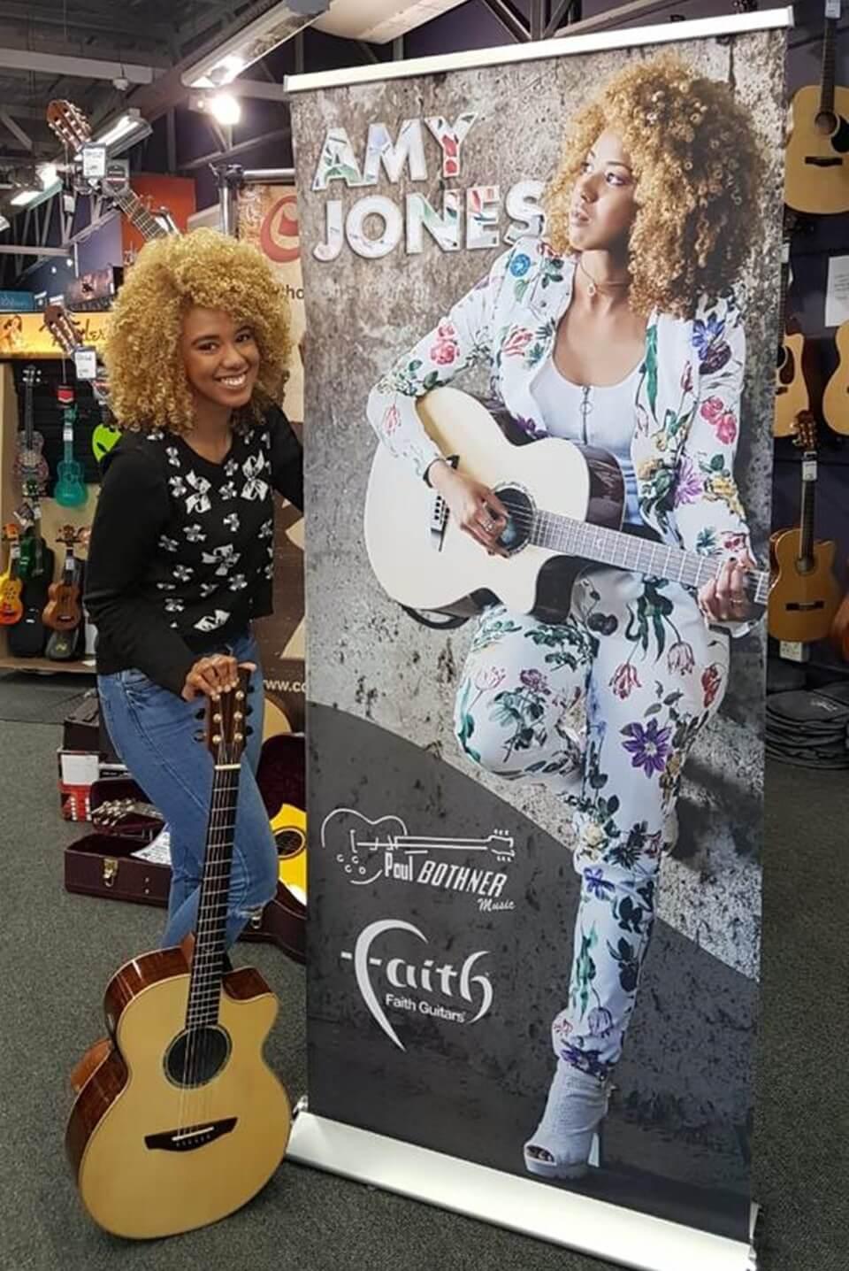 Amy Jones Musician | Muzoplanet | Faith Guitars